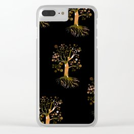 Whimsical Tree Pattern Clear iPhone Case
