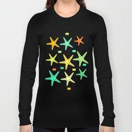 Sand, ocean and sea stars Long Sleeve T-shirt