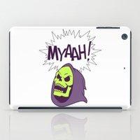 skeletor iPad Cases featuring Skeletor Evil laugh He-man  by Komrod