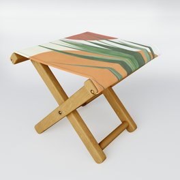 Abstract Agave Plant Folding Stool