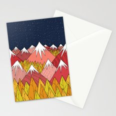 The mountains in the forest Stationery Cards
