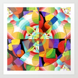 Prismatic Abstract Art Print