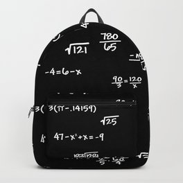 Math Mathematics Formulas Clock :: Solve the Time Backpack