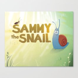 Sammy the Snail book cover Canvas Print