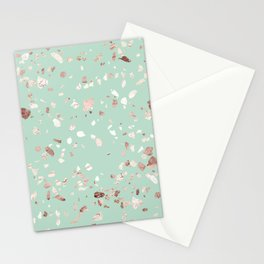 Minty Pink Stationery Cards