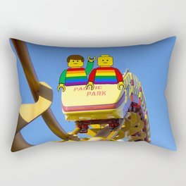 A rollercoaster to celebrate LGBT Pride Season Rectangular Pillow