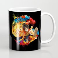 luffy Mugs featuring Luffy Attack by feimyconcepts05