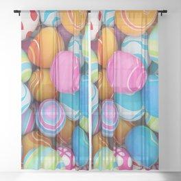Easter Eggs Sheer Curtain
