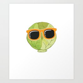 Funny Vegetarian Food Chill Out Brussel Sprout product Art Print