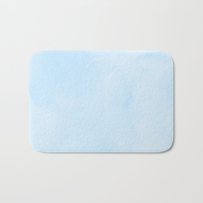 Blue Raspberry Watercolor Bath Mat