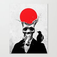 splash Canvas Prints featuring SPLASH SKULL by Ali GULEC