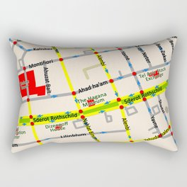 Tel Aviv map - Rothschild Blvd. Rectangular Pillow