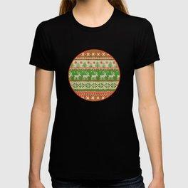 Ugly Christmas Sweater Digital Knit Pattern T-shirt