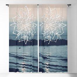 Twilight Mandala Ocean Bliss Dream #2 #sunset #decor #art #society6 Blackout Curtain