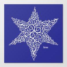David's Star Canvas Print