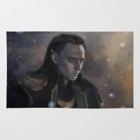 loki Area & Throw Rugs featuring Loki by Ka-ren