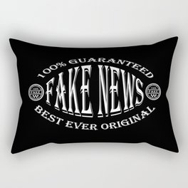Fake News badge (white on black) Rectangular Pillow