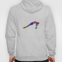 Upward Plank 207 Watercolor Map Yoga Quo Hoody