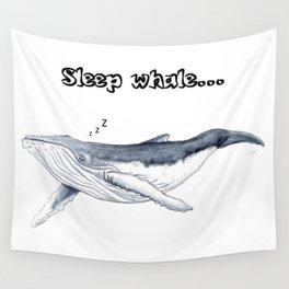 Sleep whale Wall Tapestry