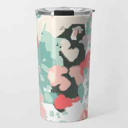 Ioro - painted abstract coral minimal mint teal bright southern charleston decor colors Travel Mug