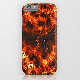 fire lava embers hot background iPhone Case