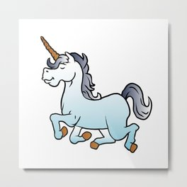 cartoon unicorn Metal Print