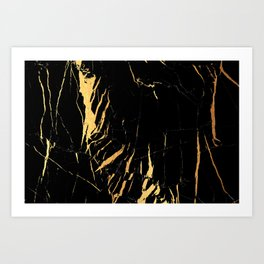 Black and gold marble #2 Art Print