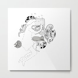 You should be here Sleep with Kitty Cats Metal Print