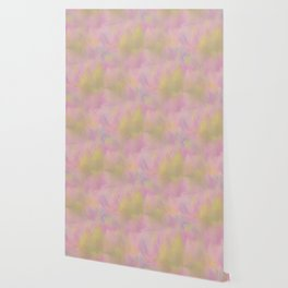 Soft Pastel Feathered Abstract Wallpaper