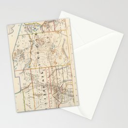 Vintage Map of Arizona and New Mexico (1866) Stationery Cards