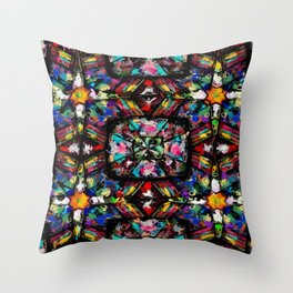 Ecuadorian Stained Glass 0760 Throw Pillow