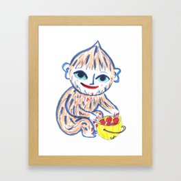 Little Foot - Troll Strawberry Hunter Framed Art Print