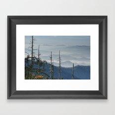 Smokey Mountain Vista as seen from Clingman's Dome Framed Art Print