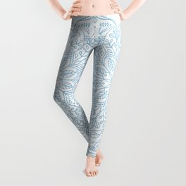 Blue Delicate Nature Mandala Leggings