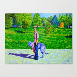 Portrait of Phil and Daniel Canvas Print