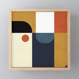 mid century abstract shapes fall winter 4 Framed Mini Art Print