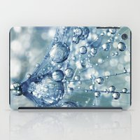 mandie manzano iPad Cases featuring Sparkling Dandy in Blue by Sharon Johnstone