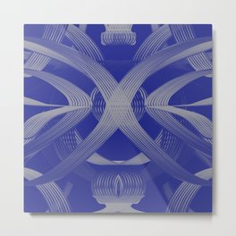 Excellence Blue & White dpa150607.b1 Metal Print