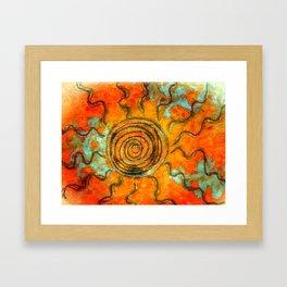 Southwest Sun Burst Framed Art Print