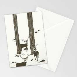 bucks in the snow Stationery Cards