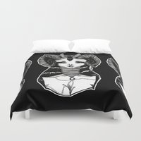 demon Duvet Covers featuring Demon by Leah Jade