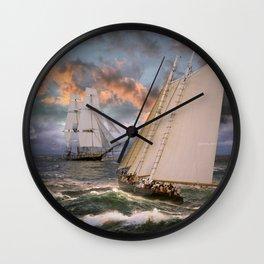 SAILING THE SEA Wall Clock