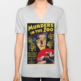 Murders in the Zoo, vintage horror movie poster Unisex V-Neck
