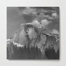 Half-Dome B&W Metal Print