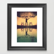 owl-393 Framed Art Print