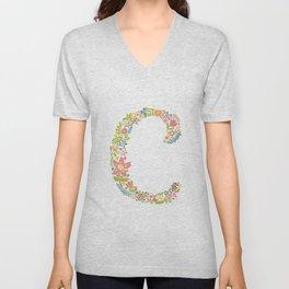 Alphabet C Unisex V-Neck