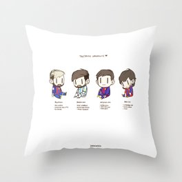 Tiny Messi, pack of 4 Throw Pillow