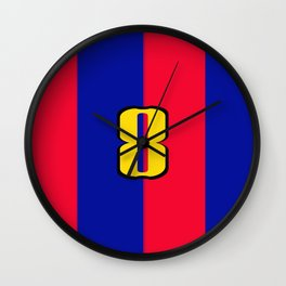 soccer team jersey number eight Wall Clock