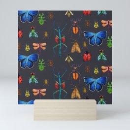 Entomology (Black) Mini Art Print
