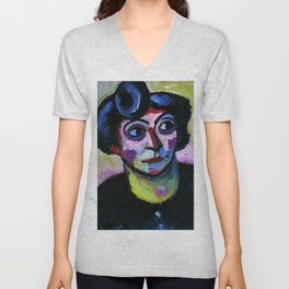 "Alexej von Jawlensky ""Woman with curly hair"" 1913 Unisex V-Neck"